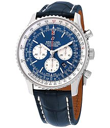 Breitling Navitimer 1 Chronograph Automatic Chronometer Auora Blue Dial Men's Watch