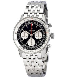 Breitling Navitimer 1 Chronograph Automatic Chronometer Black Dial Men's Watch