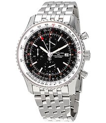 Breitling Navitimer 1 GMT Chronograph Automatic Black Dial Men's Watch