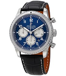 Breitling Navitimer 8 Chronograph Automatic Chronometer Blue Dial Men's Watch