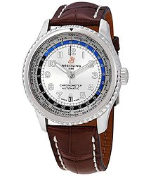Breitling Navitimer 8 Unitime Automatic Silver Dial Men's Watch