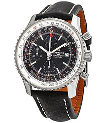 Breitling Navitimer GMT Chronograph Automatic Black Dial Men's Watch