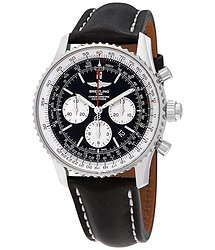 Breitling Navitimer Rattrapante Chronograph Automatic Black Dial Men's Watch