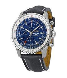 Breitling Navitimer World Blue Dial Chronograph Men's Watch A2432212-C651BKLT