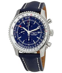 Breitling Navitimer World Blue Dial Strap Watch
