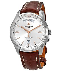 Breitling Premier Automatic Chronometer Silver Dial Men's Watch