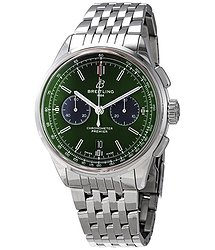 Breitling Premier Bentley Chronograph Automatic Chronometer Green Dial Men's Watch