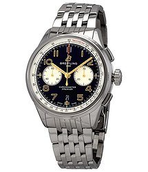 Breitling Premier Chronograph Automatic Black Dial Men's Watch