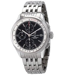 Breitling Premier Chronograph Automatic Chronometer Black Dial Men's Watch