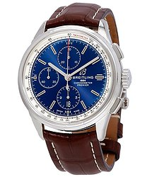 Breitling Premier Chronograph Automatic Chronometer Blue Dial Men's Watch