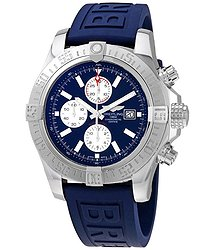 Breitling Super Avenger II Chronograph Automatic Blue Dial Men's Watch