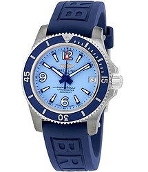Breitling SuperOcean 36 Automatic Light Blue Dial Ladies Watch