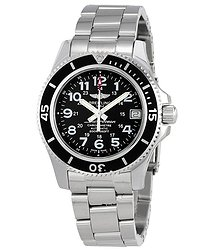 Breitling Superocean 36 Black Dial Automatic Midsize Watch A17312C9-BD91SS