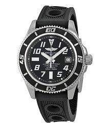 Breitling SuperOcean 42 Black Dial Black Rubber Men's Watch A1736402-BA28BKOR