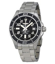 Breitling Superocean 42 Black Dial Stainless Steel Men's Watch A1736402-BA28SS