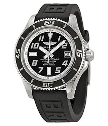 Breitling SuperOcean 42 Mechanical Black Dial Black Rubber Men's Watch