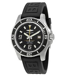 Breitling Superocean 44 Automatic Black Dial Black Rubber Men's Watch A1739102-BA78BKPT3