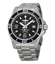Breitling Superocean 44 Black Dial Stainless Steel Automatic Men's Watch A1739102-BA77SS