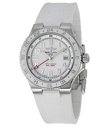 Breitling Superocean GMT Automatic White Dial Men's Watch A32380A9-A737