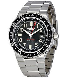 Breitling SuperOcean GMT Black Dial Automatic Stainless Steel Men's Watch A3238011-BA38SS