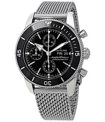 Breitling Superocean Heritage II Chronograph Automatic Black Dial Men's Watch