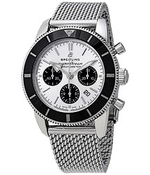 Breitling Superocean Heritage II Chronograph Automatic Chronometer Silver Dial Men's Watch