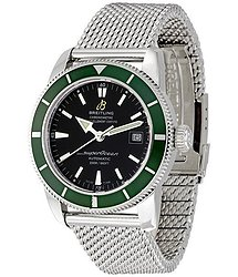 Breitling SUPEROCEAN HÉRITAGE 42 Green Bezel Automatic Men's Watch A1732136-BA61SS
