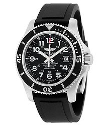 Breitling Superocean II 44 Automatic Black Dial Black Rubber Men's Watch