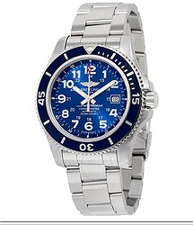 Breitling Superocean II 44 Automatic Gun Blue Dial Stainless Steel Men's Watch