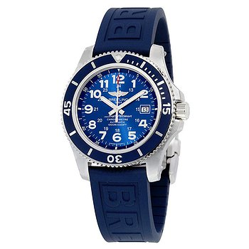 Купить часы Breitling Superocean II 44 Automatic Metallic Blue Dial Blue Rubber Men's Watch A17392D8-C910BLPD3  в ломбарде швейцарских часов