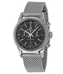 Breitling TransOcean 38 Chronograph Black Dial Stainless Steel Watch A4131012-BC06SS