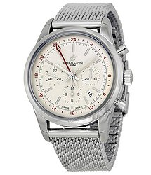 Breitling Transocean Chronograph Ivory Dial Men's Watch AB045112-G772SS