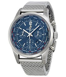 Breitling Transocean Chronograph Unitime Blue Dial Men's Watch AB0510U9-C879SS