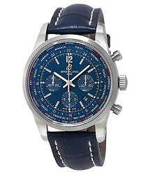 Breitling Transocean Unitime Pilot Automatic Blue Dial Men's Watch