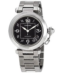 Cartier Automatic Black Dial Watch
