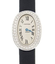 Cartier Baignoire 18kt White Gold & Diamond White Quartz WB509531