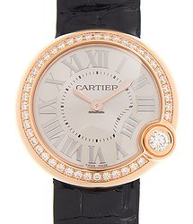 Cartier Ballon Blanc De Cartier 18kt Rose Gold & Diamonds Silver Quartz WJBL0005