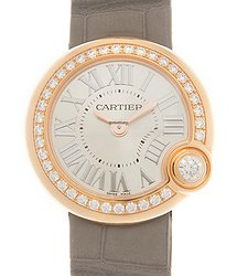 Cartier Ballon Blanc De Cartier 18kt Rose Gold & Diamonds Silver Quartz WJBL0006