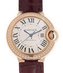 Cartier Ballon Bleu 18kt Rose Gold & Diamonds White Automatic WJBB0033