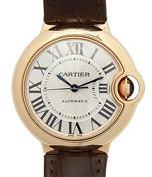 Cartier Ballon Bleu 18kt Rose Gold Silver Automatic W6920097