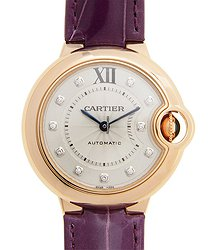 Cartier Ballon Bleu 18kt Rose Gold Silver Automatic WE902063