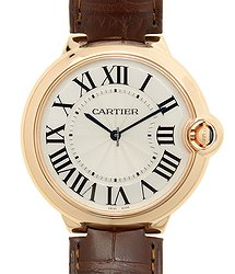 Cartier Ballon Bleu 18kt Rose Gold Silver Manual Wind W6920083