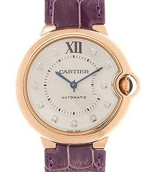 Cartier Ballon Bleu 18kt Rose Gold Silvery White Automatic WJBB0010