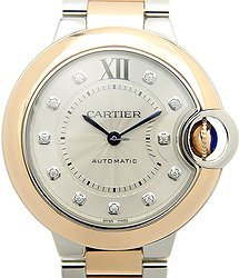 Cartier Ballon Bleu 18kt Rose Gold & Steel Silver Automatic W3BB0006