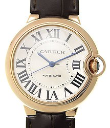 Cartier Ballon Bleu 18kt Rose Gold White Automatic WGBB0009