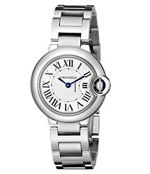 Cartier BALLON BLEU 28MM QTZ STEEL ON METAL