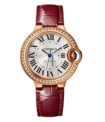 Cartier Ballon Bleu 33mm 18K Pink Gold & Diamonds Watch, WJBB0033