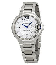 Cartier Ballon Bleu Automatic Diamond Dial Ladies Watch