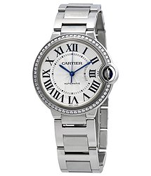 Cartier Ballon Bleu Automatic Ladies Diamond Watch