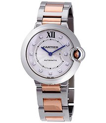 Cartier Ballon Bleu Automatic Ladies Two Tone Watch